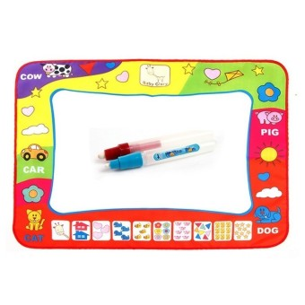 Baby Educational Toys Water Drawing Mat With Pen (Intl)