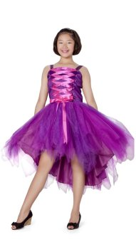 Baby Fashionista Corset Dress (Purple/Fuchsia)