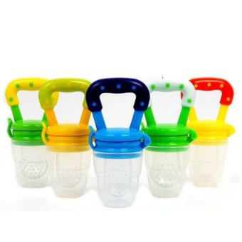 Baby Food Fruits Soft Nipple Feeder Safety Silicone Pacifier Feeding Tool - intl