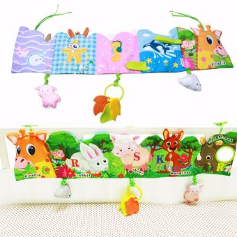 Baby Funny Mobile Cloth Book Educational Animal Crib Bed AroundToys(Lion) - intl - 2
