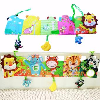 Baby Funny Mobile Cloth Book Educational Animal Crib Bed AroundToys(Lion) - intl