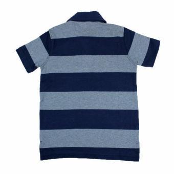 Baby Gap Polo Shirt Gray/Navy Stripe - 2
