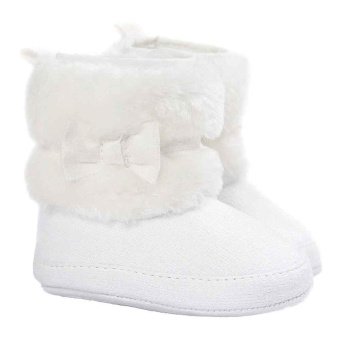 Baby Girl Bowknot Keep Warm Soft Sole Snow Boots Crib Shoes Toddler White 11cm Price Philippines