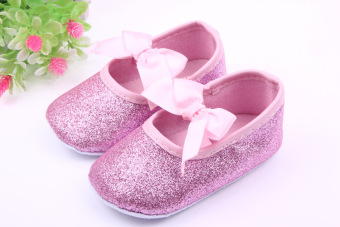 Baby Girl Shoes New Born Toddler Shoes For Girls Bling BlingBowknot Princess Baby shoes First Walkers Pink