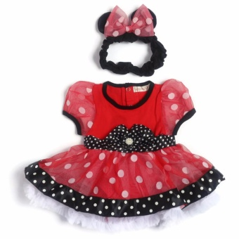 Baby Girl Tutu Dress (Red/Black) for 6 Months Old