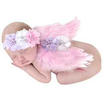 Baby Girls Angel Wings Wing Set Feather Newborn Photography