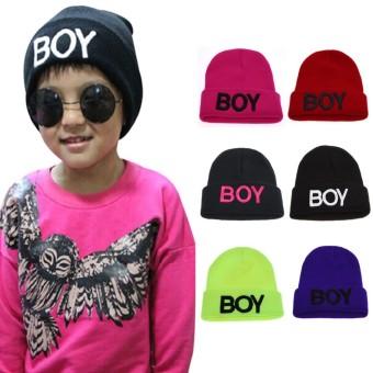 Baby Girls Boys Knitted Woolen Skull Hats Toddler Ski Hats BOYBeanie Caps for Children Kids Baby - intl - 5