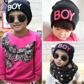 Baby Girls Boys Knitted Woolen Skull Hats Toddler Ski Hats BOYBeanie Caps for Children Kids Baby - intl - 4