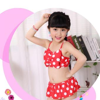 Baby Girls Kids Minnie Mouse Bikini Set Swimwear Child Bathing SwimSuit Costume - intl - 3