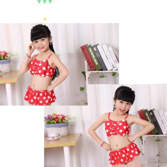 Baby Girls Kids Minnie Mouse Bikini Set Swimwear Child Bathing SwimSuit Costume - intl - 2