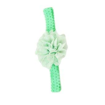 Baby Girls Lace Headband Light Green