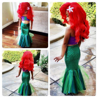 Baby Girls Little Mermaid Costume Dress Swimwear Swimsuit Set - intl - 2