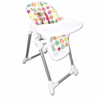 Baby High Chair Multi Color Apple Design (White)
