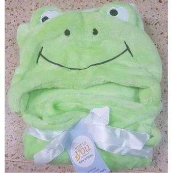 Baby Hooded Bathrobe Bath Towel - Frog Green - 2
