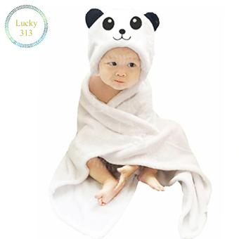 Baby Hooded Towel Blanket Smile Panda (White) Price Philippines