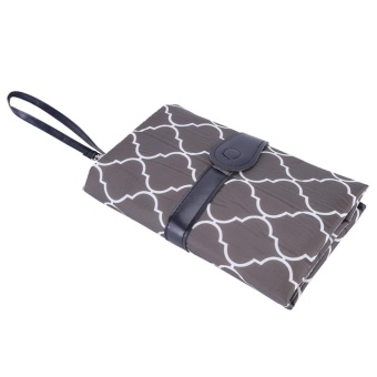 Baby Infant Portable Diaper Changing Pad Cover Mat Travel TableFoldable Nappy Bag (Grey) - intl