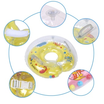 Baby Infant Swimming Neck Float Ring Inflatable Bath ProtectionCircle for 1-18 Months Blue - intl - 4