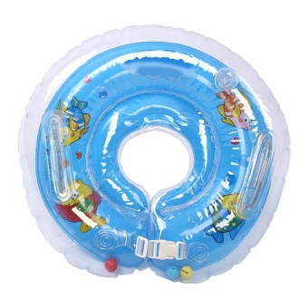 Baby Infant Swimming Neck Float Ring Inflatable Bath ProtectionCircle for 1-18 Months Blue - intl