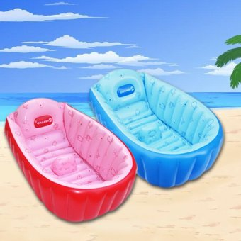 Baby Infant Travel Inflatable Bath Tub Cream Colour Tiny Tots HighQuality - 2
