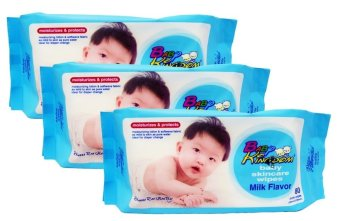 Baby Kingdom 80's Milk Scent Moisturizes and Protects Pack of 3