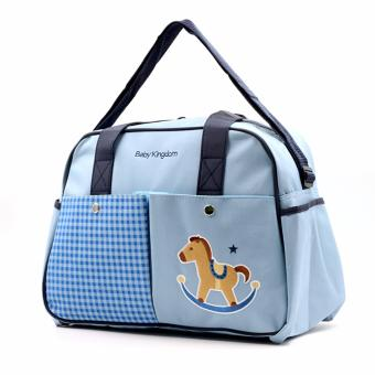 Baby Kingdom Baby Diaper Bag, Horse Blue Price Philippines