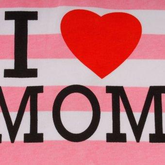 Baby Lab Cotton Bib with I Love Mom Print (Multicolor) - picture 2