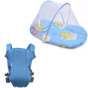 Baby Mosquito Net Bed (Blue) with Adjustable Straps Baby Carriers(Blue)