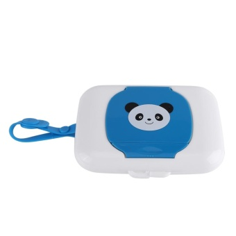 Baby Outdoor Travel Stroller Wet Wipes Box Tissue CaseWhite&Blue - intl