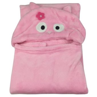 Baby Owl Hooded Blanket (Pink) Price Philippines