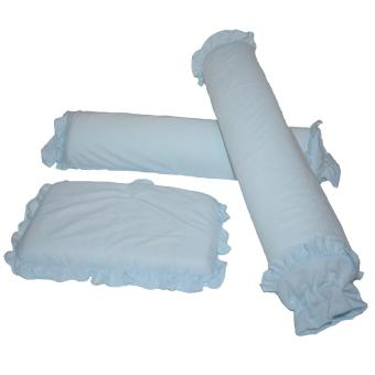 Baby Pillow And Bolster 3pc Set Blue Lazada Ph