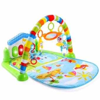 Baby Play Mat Kicking and Playing Piano Body-building with FlashingLights for Baby Intelligence Educational Toy(MULTICOLOR)