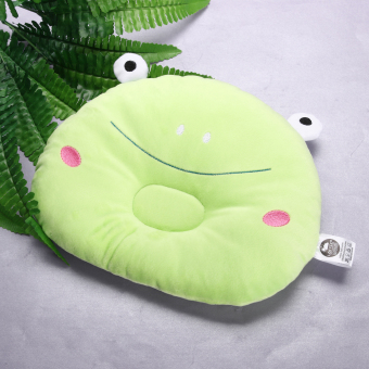 Baby Prevent Flat Head Pillow Soft Sleeping Positioner (Green Frog)- intl - 4