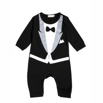 Baby Romper Gentleman Suits (Black)
