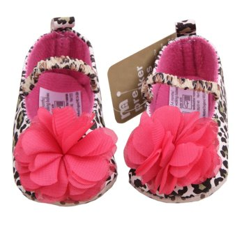 Baby Shoes Leopard Printed Cute Red Flower Soft Shoes for NewbornBaby