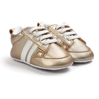 Baby Shoes Soft Bottom Anti-skid PU Leather Shoe For Infant ToddlerBoys Girls(S,Gold) - intl - 2