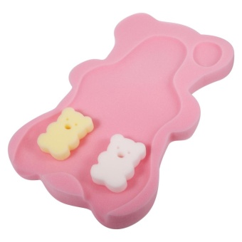 Baby Shower Bath Seat Infant Non Slip Soft Pad Mat Body SupportCushion Sponge Light Pink - intl Price Philippines