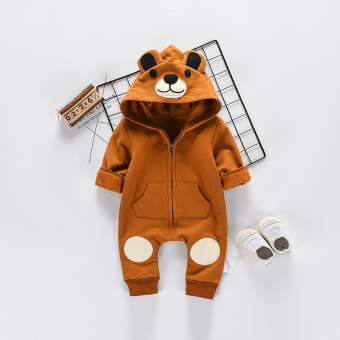 Baby Spring and Autumn men and women Bear romper onesie