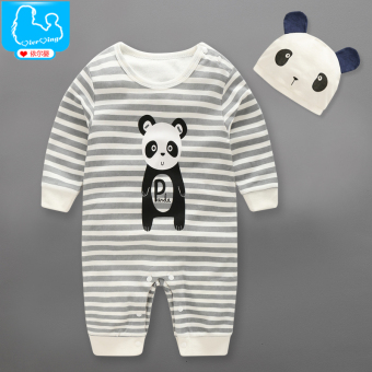 Baby spring newborns long-sleeved cotton PANDA onesie