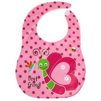 Baby Steps 2 Piece Set Newborn Baby Girl Socks and Bib (Multicolor) - 3