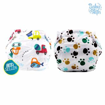BABY STEPS Animale Print B Diapers Set of 2