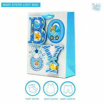 Baby Steps Baby Loot Bag 3 Items (Blue) Price Philippines