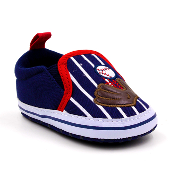 Baby Steps Baseball Baby Boy Shoes (Navy)