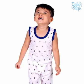 Baby Steps Basic Wear Anchor Baby Boy Terno Clothing Sets (Blue)