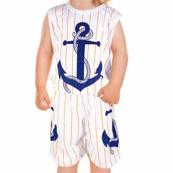 Baby Steps Basic Wear Anchor Rope Baby Boy Terno Clothing Set