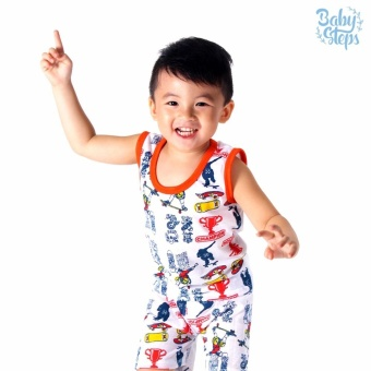 Baby Steps Basic Wear Champion Baby Boy Terno Clothing Sets(Orange/Multicolor)