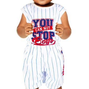 Baby Steps Basic Wear You Can Not Stop Boys Baby Boy Terno ClothingSet