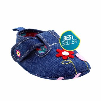 BABY STEPS Bloom Baby Girl Sandals (Blue)