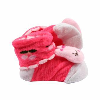 Baby Steps Bunnanie Baby Girl Socks (Pink) - 3