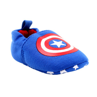 BABY STEPS Capt A Hero Baby Boy Cotton Shoes (Blue) - 2