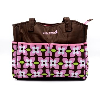 BABY STEPS CuteBaby 4Petal Flower Fashion Diaper Bag (Pink) - picture 2